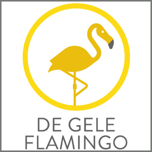 de gele flamingo, kinderaccessoires