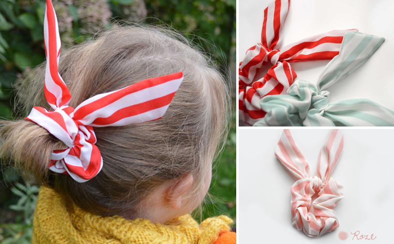 haarelastiek voor meisjes, bunny oren haarelastiek, orinigele haaraccessoires voor meisjes