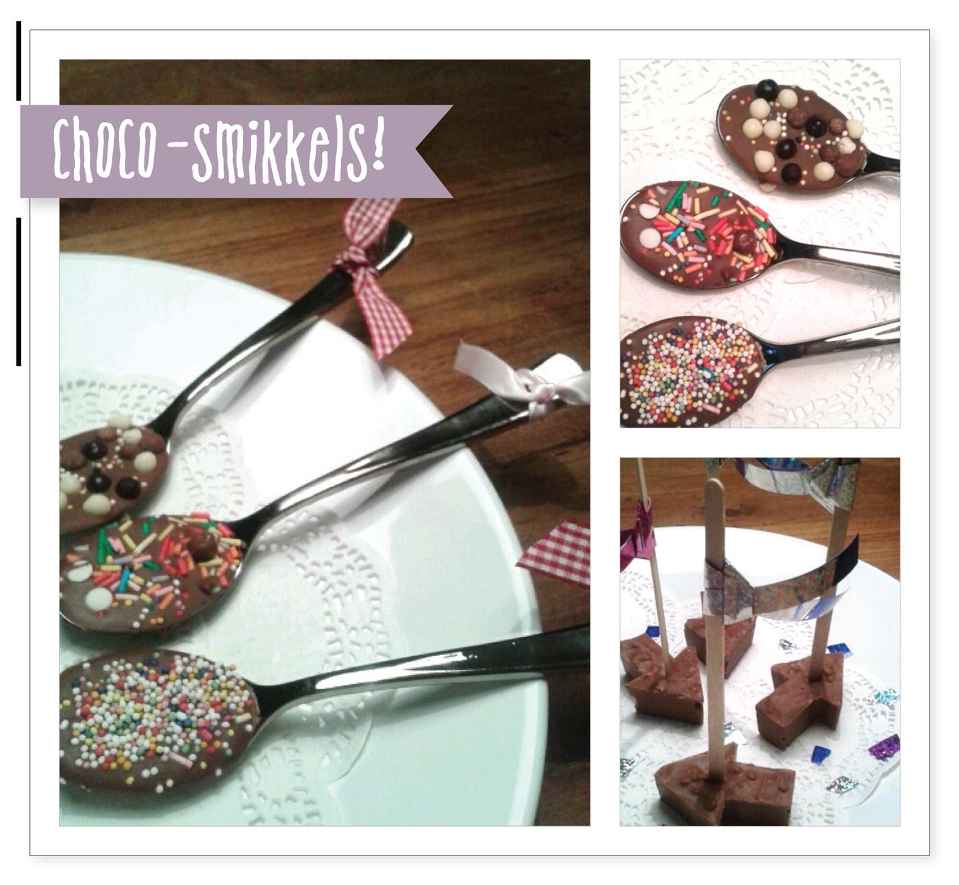 choco smikkels, recept choco smikkels, chocolade recept