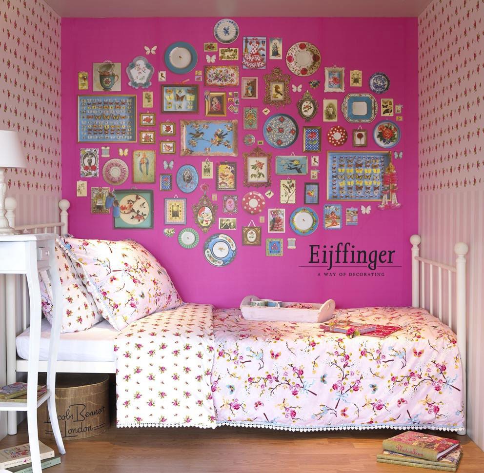 Pip behang voor de meisjeskamer l meisjeskamer l girlslabel - Meisjes kamer jaar ...
