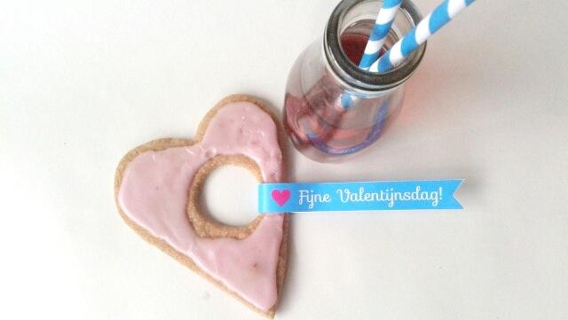 Valentijnshart Girlslabel