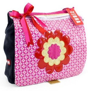 Zebra trends kindertas schooltas canvas a4 flower met bloem