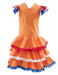 oranje jurk meisje