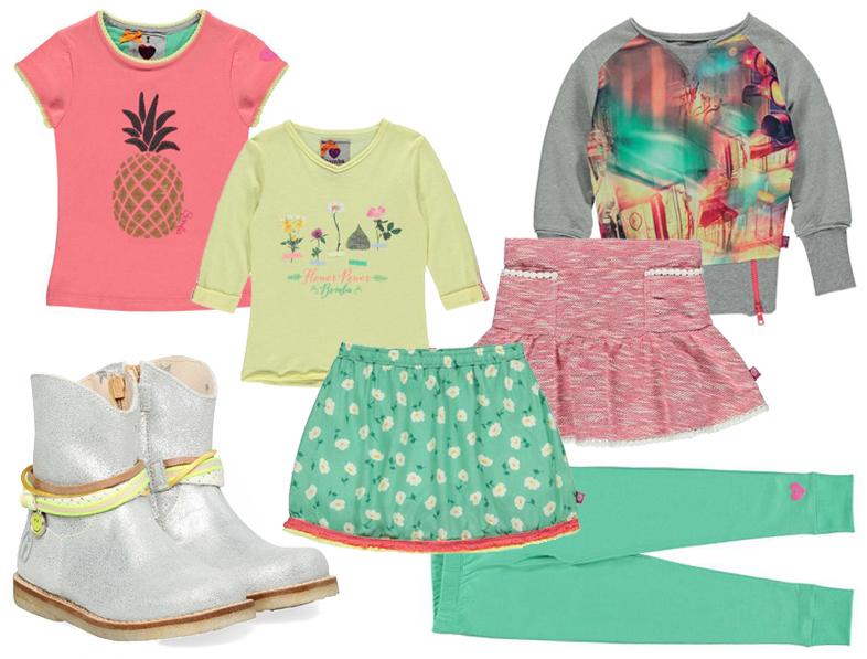 Bomba girls, meisjeskleding zomer 2016, kleurrijke meisjeskleding