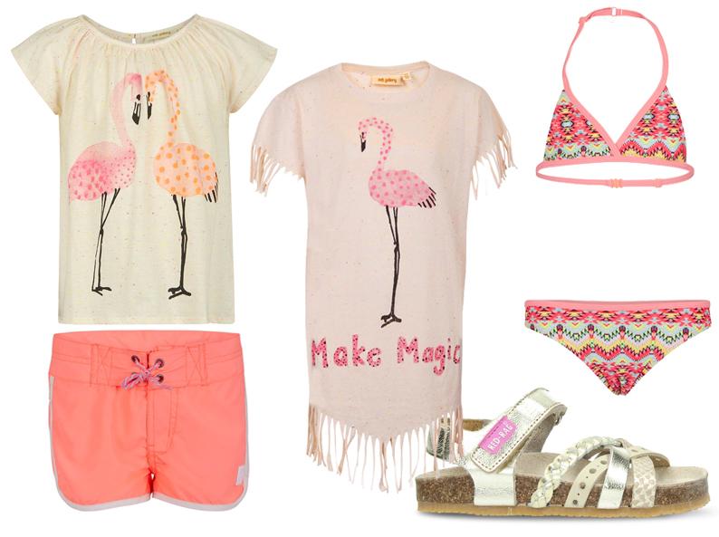 flamingoprints, meisjeskleding, zomerkleding voor meisjes, redrag, girlslabel