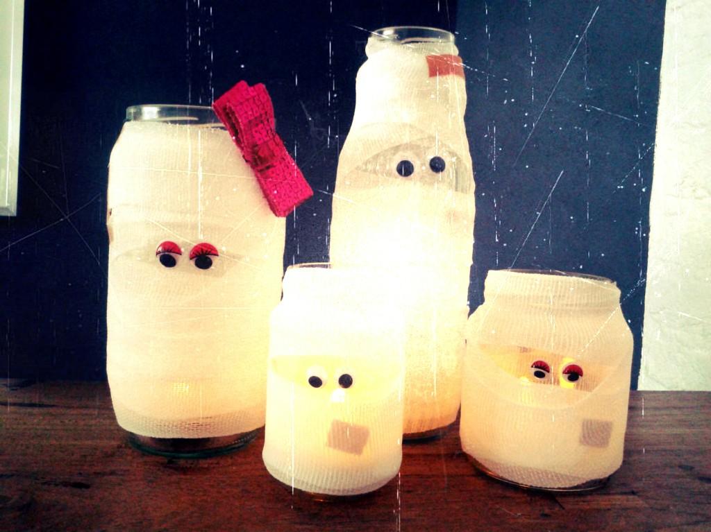 halloween DIY, halloween mummies, knutselen voor halloween, halloween