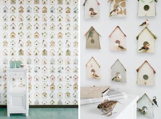 Vogeltjes behang Studio Ditte