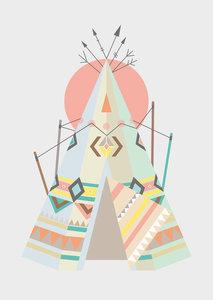 poster-tipi-tent-girlslabel