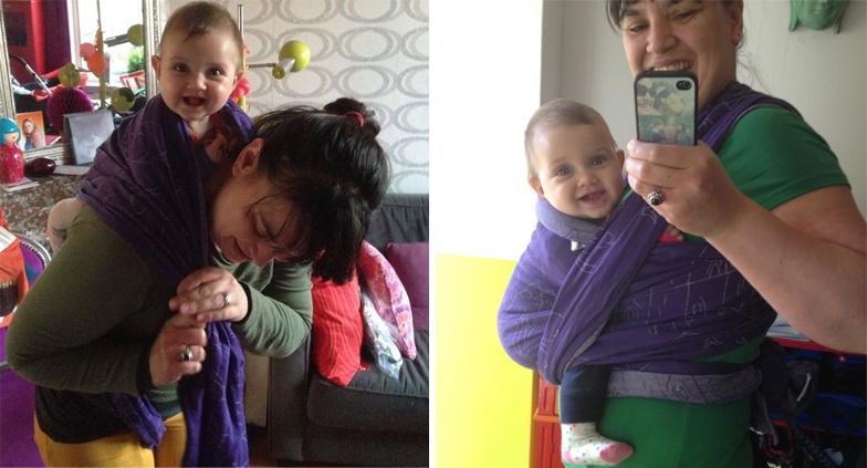 Hoe draag je een baby in draagdoek
