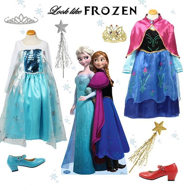 frozen verkleedjurken, frozen verkleedkleding, frozen disney
