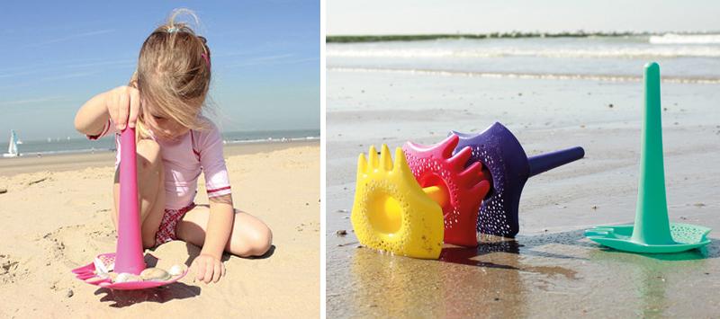 Strandspeelgoed, triplet schep, quut beach toys