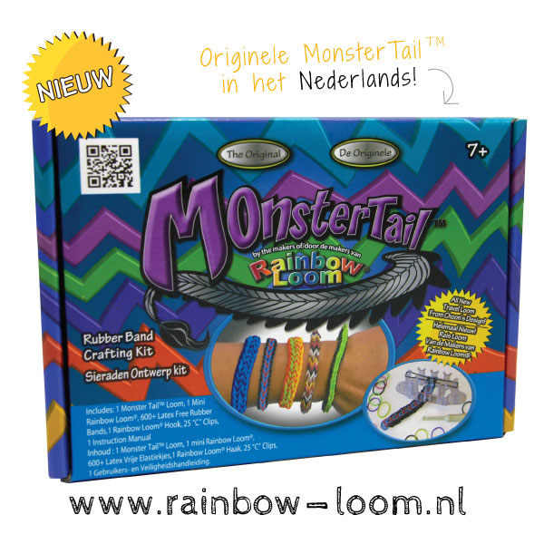 monster-tail rainbow loom