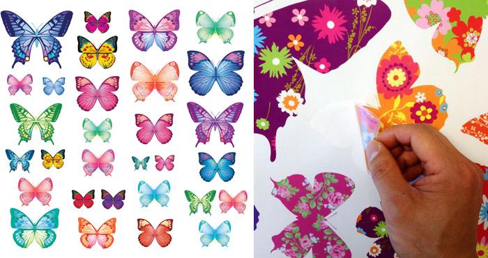 Decowall muurstickers, muurstickers meisjeskamer, decowall vlinders,