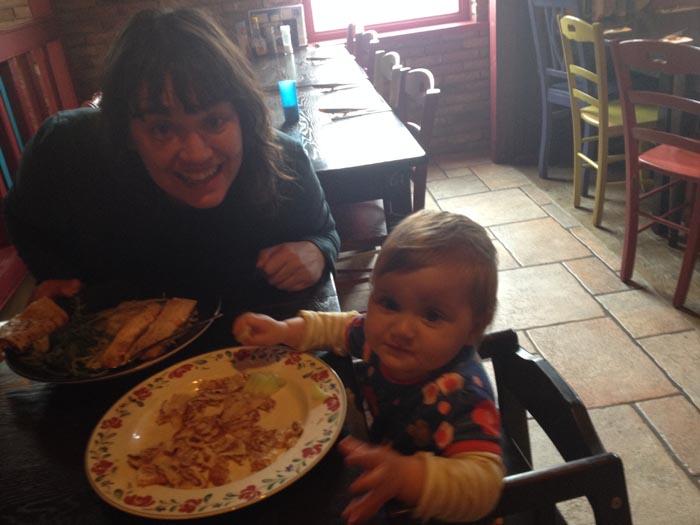 Vakantie met baby, Esther met Jippe