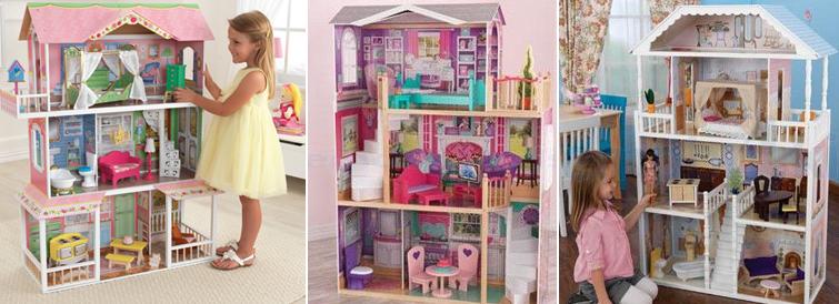Houten poppenhuizen, kidkraft, emob4toys, houten speelgoed, girlslabel