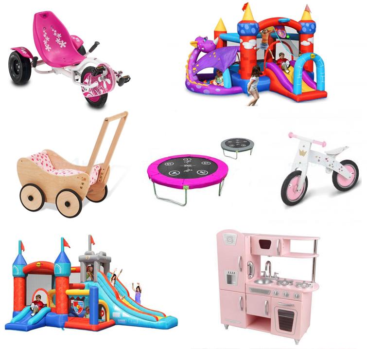 Meisjesspeelgoed, stoer speelgoed voor meisjes, groot speelgoed, emob4toys, luchtkussens, springkussens