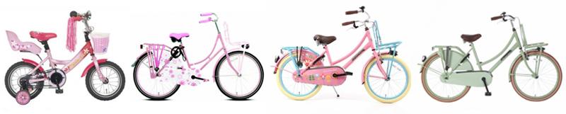 Meisjesfiets, kinderfietsen, fietsenopfietsen