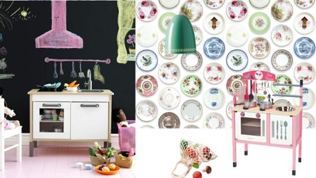 Keukenprinsessenkamer, kinderkamerinspiratie, meisjeskamers, inrichting meisjeskamer, studio ditte behang