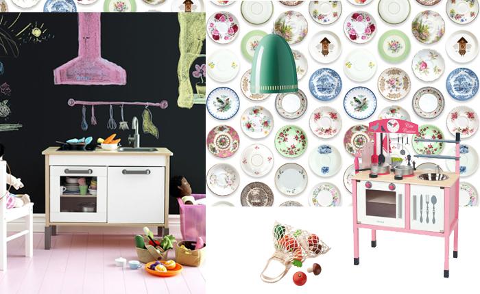 Meisjeskamer inspiratie l keukenprinsessen kamer voor kleine meisjes - Modern behang voor volwassen kamer ...