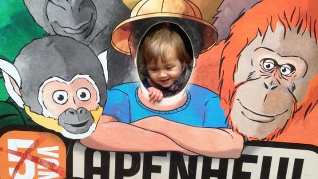 aapjes kijken in de apenheul, dagje uit, girlslabel