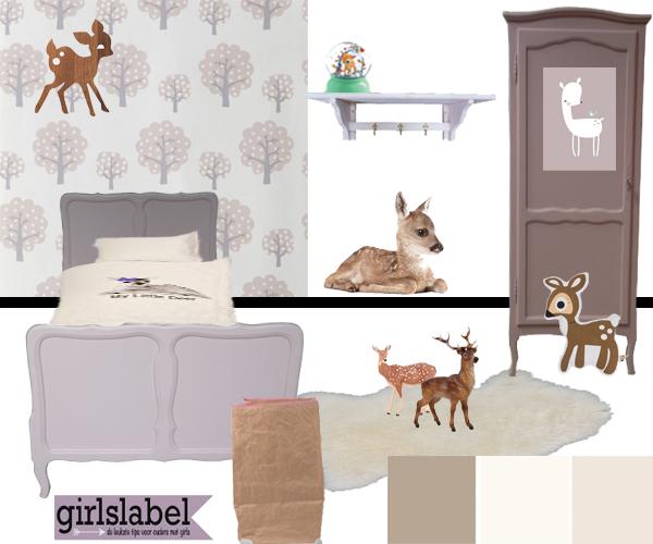 Kinderkamer met hertjes l leuke kinderkamer inspiratie for Kleur kinderkamer