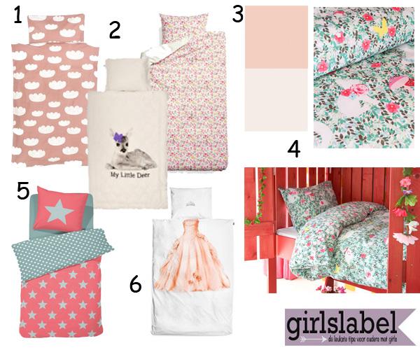Kinderkamer Roze Groen : Beddengoed meisjes, dekbedovertrek voor ...