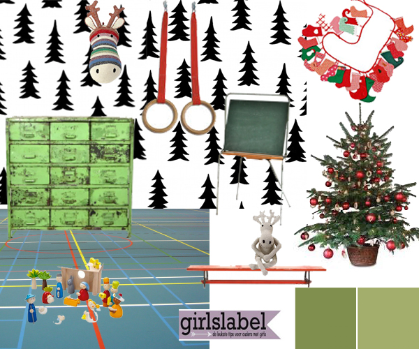 Speelkamer KERST Girlslabel , kerst op de kinderkamer
