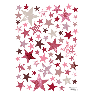 lilipinso-muurstickers-sterren-flowered-pink