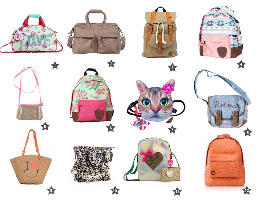 Hippe meisjestassen, hippe meidentassen, tassen voor meisjes