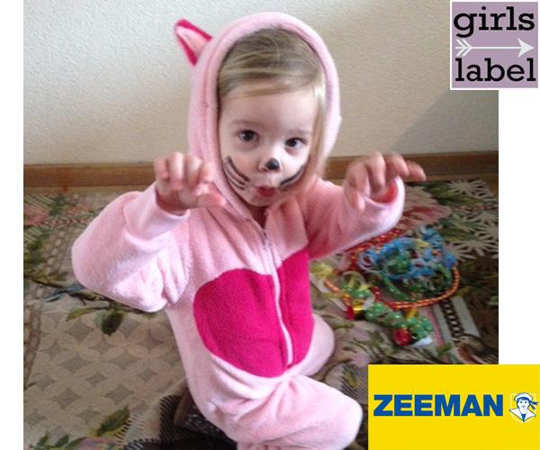 Roze Poezenpak Zeeman, goedkope carnavalskleding, carnavalspakken zeeman, poezenpak