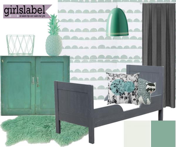 Muur kleur mintgroen gehoor geven aan uw huis - Slaapkamer kleur idee ...
