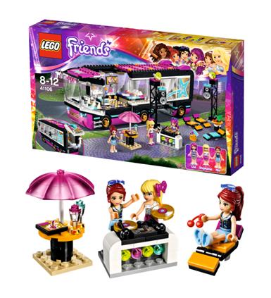 LEGO Friends Popster Toerbus, lego friends speelgoed