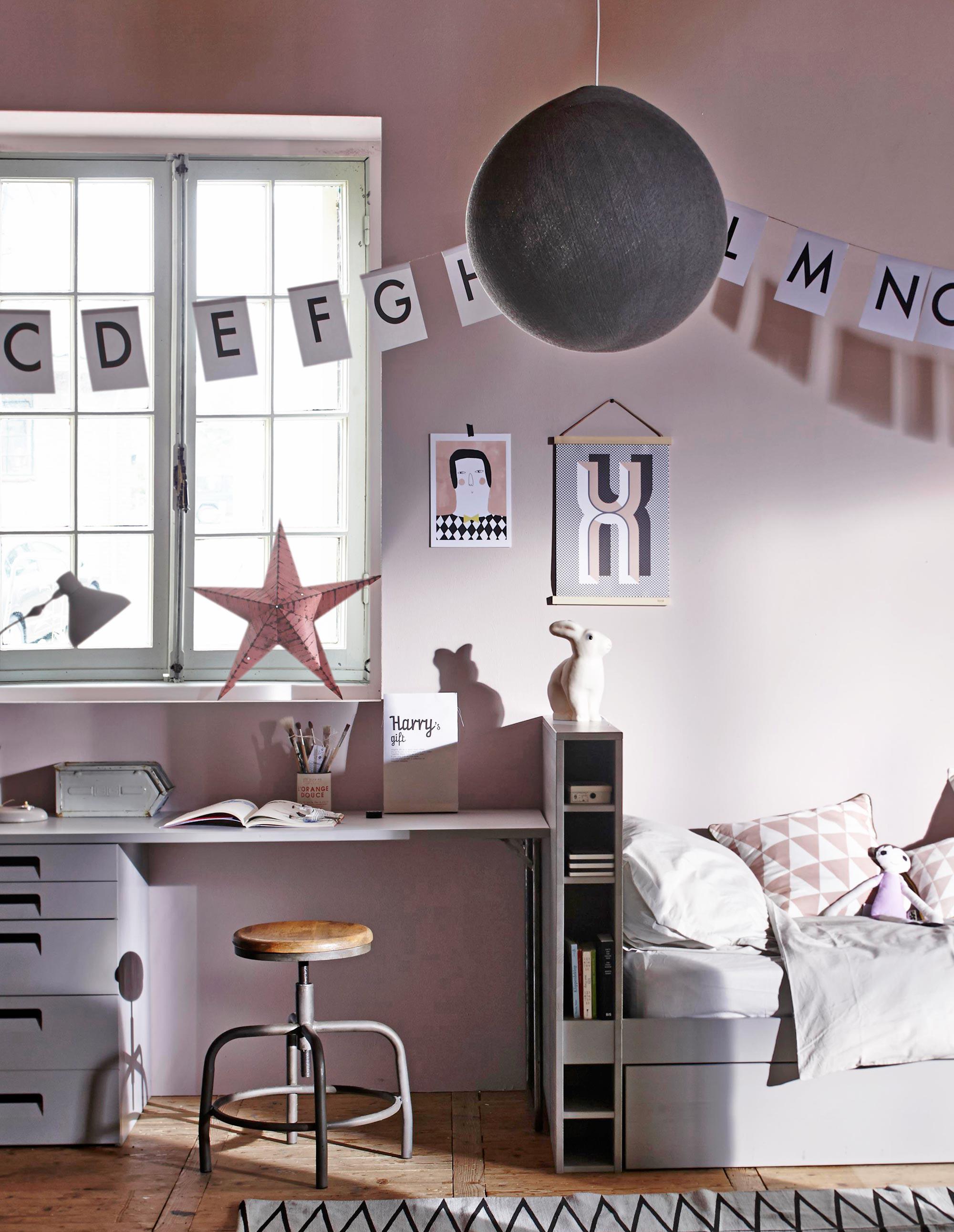 kidsroom, roze-kinderkamer, kinderkamer idee, kinderkamer inrichting, meisjeskamers