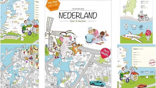 Very Mappy, grootste kleurplaat van Nederland, landkaart kleurplaat