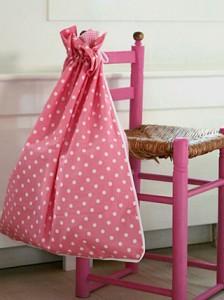 Fresh waszak, speelgoed zak, roze met stippen, kids, girls, girlslabel