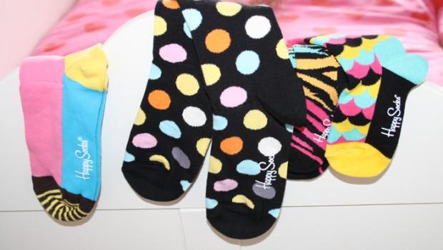 Happy socks, kleurrijke kindersokken, leuke damessokken