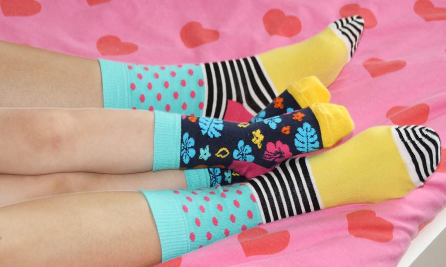 Happy socks, vrolijke kindersokken, kleurrijke damessokken