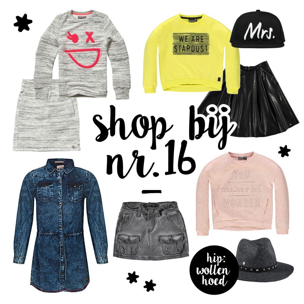 NummerZestien, hippe meisjeskleding, kindermode winter 2016-2107