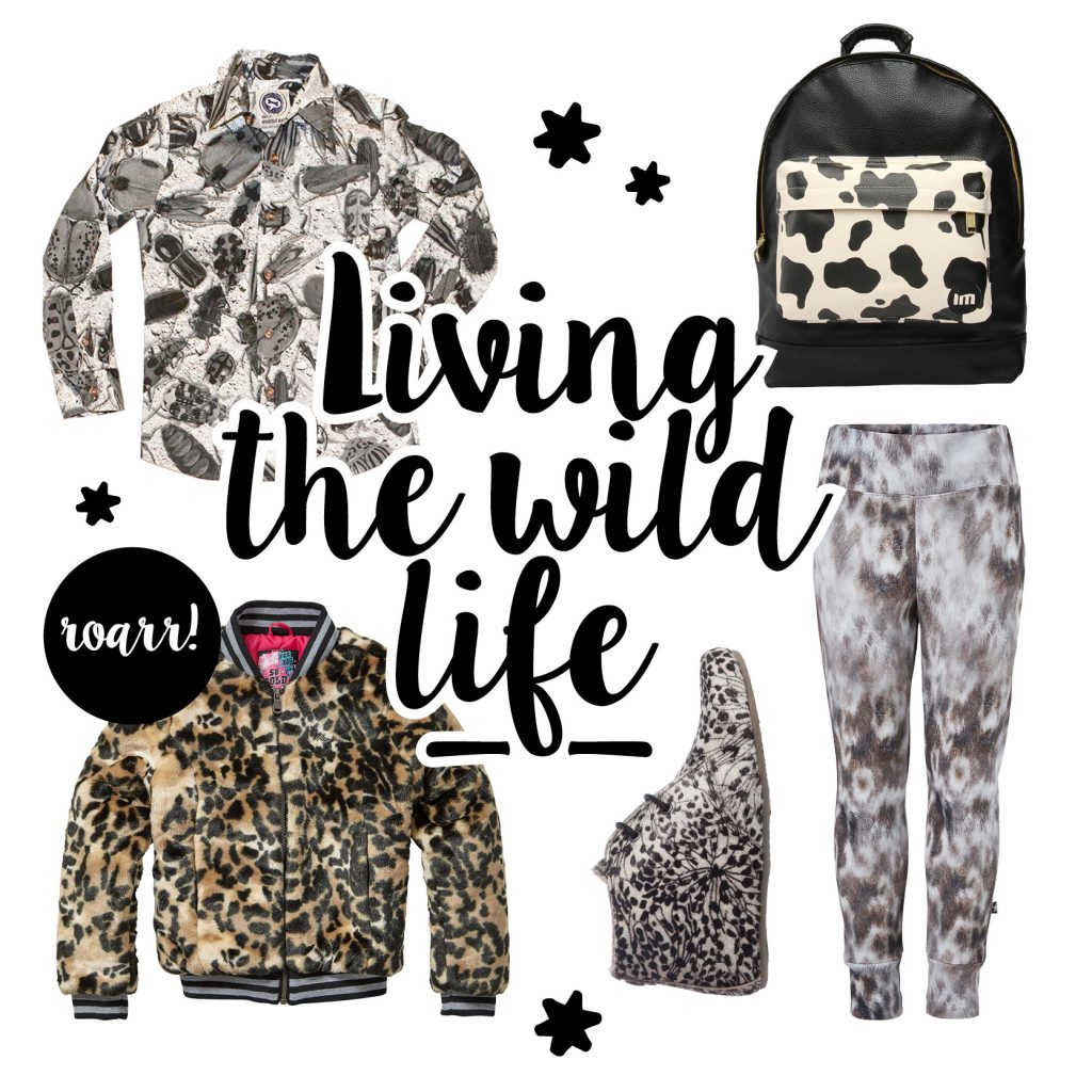 animal print, trend kinderkleding, winter 2017, hippe meisjeskleding