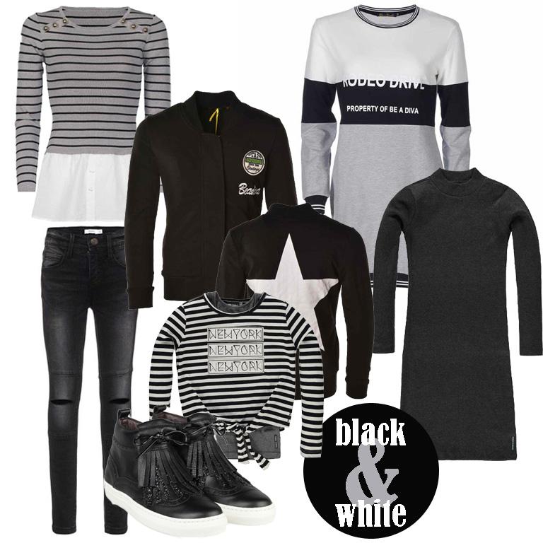 tienerkleding-zwart-wit-meisjeskleding