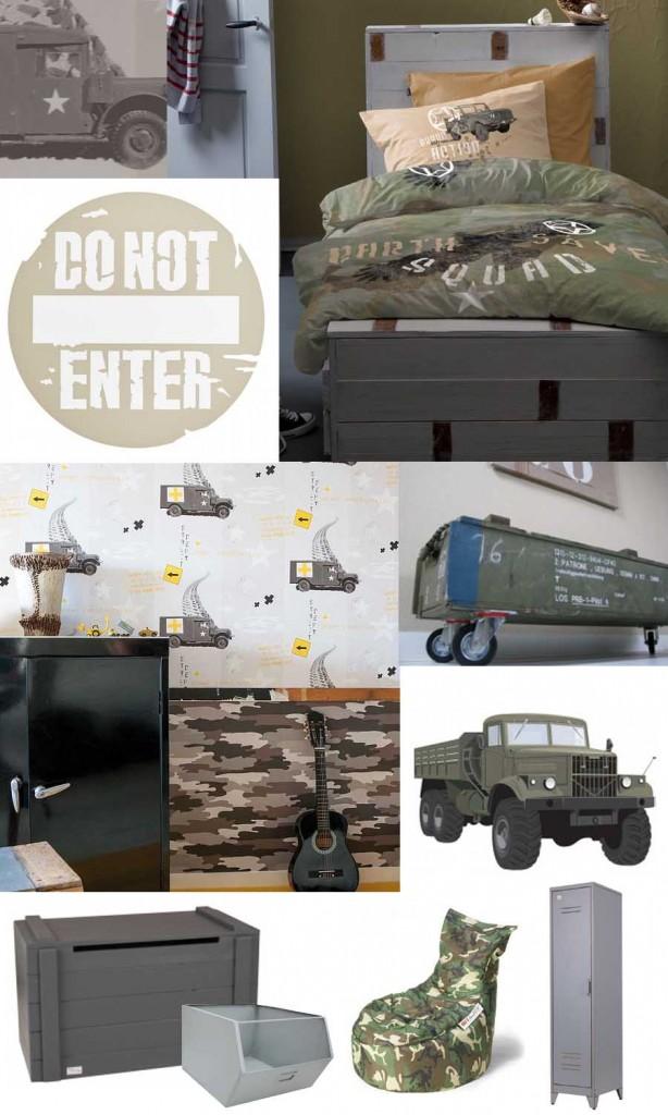 stoere-legerkamer-stoere-jongenskamer-camouflage-kamer-army-kamer ...