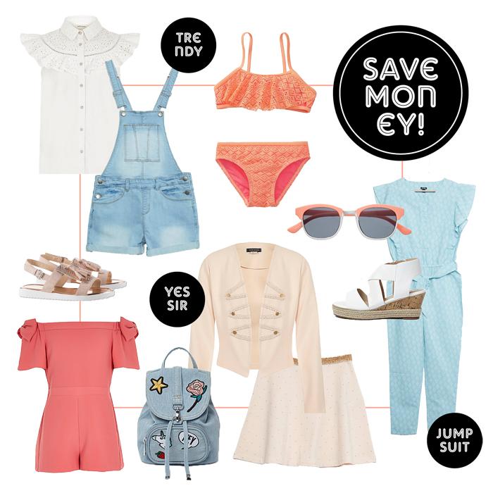 Budget meisjeskleding, kinderkleding low budget, get the look