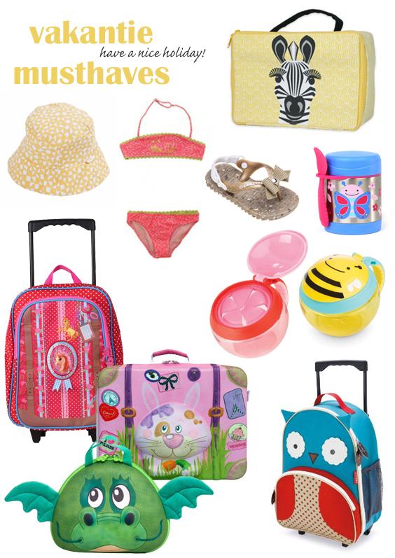 kinderkoffers, leuke koffertjes voor kinderen, vakantie musthaves, de gele flamingo, girlslabel