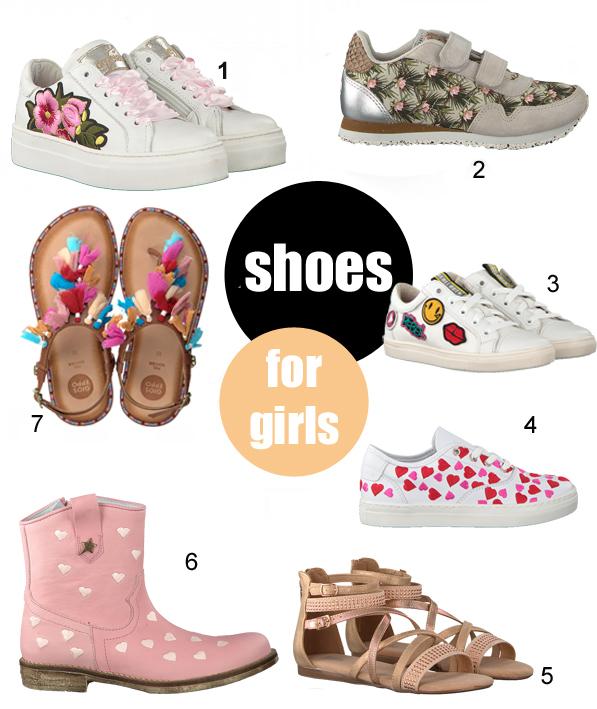 zomerschoenen voor meisjes, meisjesschoenen, kinderschoenen zomer 2018