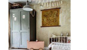 Vintage kinderkamer inspiratie, vintage meisjeskamer, kinderkamers voorbeelden, kinderkamerstyling, girlslabel