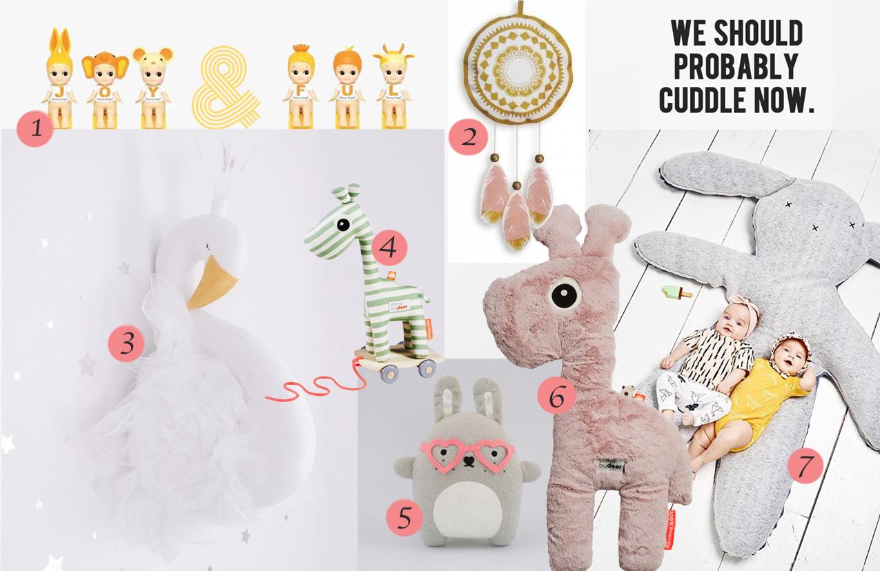 knuffels en poppen, babyknuffels,meisjespoppen, done by deer knuffels, sonny angels