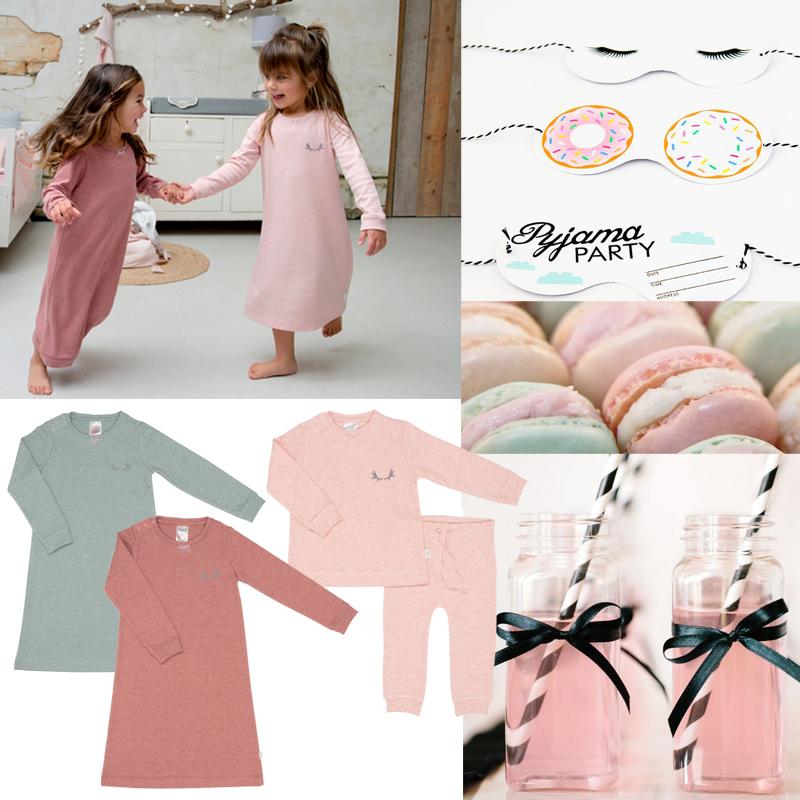 slaapfeestje, kinderfeestje ideeën, pyjama party