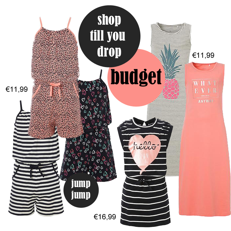 Get the look, meisjes zomerkleding, budget shop tips