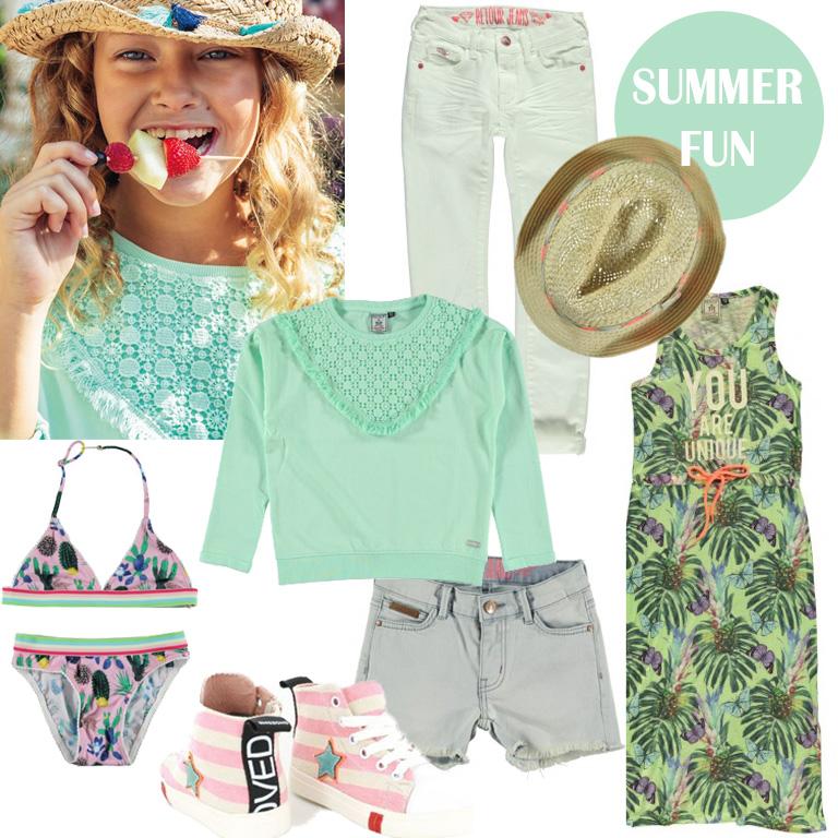 meisjeskleding zomer 2017, get the look