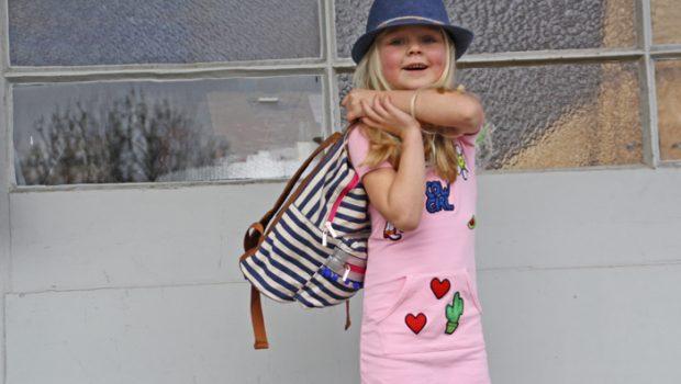 meisjesrugtassen, shoesme rugtas, gestreepte rugtas, meisjestassen, ochil, girlslabel
